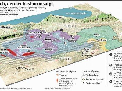La poche d'Idleb, dernier bastion insurgé - Sophie RAMIS [AFP]