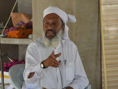 Allah Jurio, imam dans une mosquée de Mithi au Pakistan, le 25 mai 2018 - RIZWAN TABASSUM [AFP]