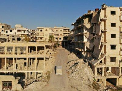 Le quartier Maaret al-Numan, au nord de la province d'Idleb en Syrie, le 27 septembre 2018    OMAR HAJ KADOUR [AFP/Archives]