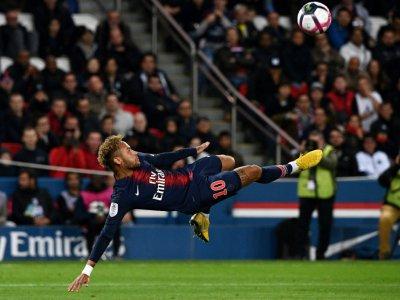 L'attaquant brésilien du Paris-SG, Neymar, lors du match de L1 face à Lyon, au Parc des Princes, le 7 octobre 2018    FRANCK FIFE [AFP/Archives]