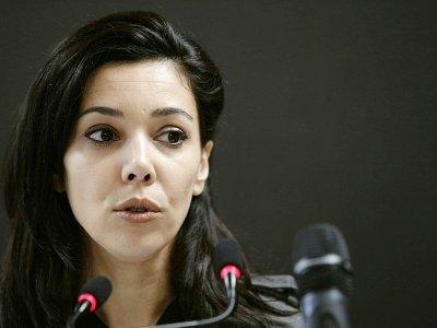 Sophia Chikirou, directrice de la communication de la campagne de Jean-Luc Mélenchon, le 21 janvier 2017 à Paris    GEOFFROY VAN DER HASSELT [AFP/Archives]