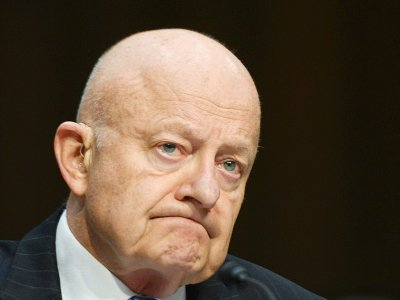 L'ex-responsable des renseignements James Clapper, le 8 mai 2017 à Washington