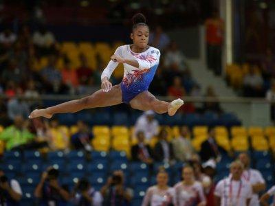 La Française Mélanie de Jesus dos Santos lors des Mondiaux de gymnastiques à Doha le 30 octobre 2018    KARIM JAAFAR [AFP]