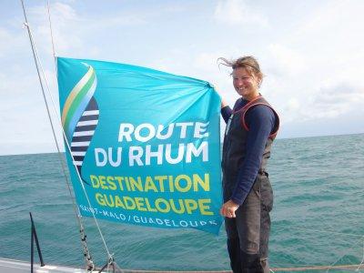 Claire Pruvot sera au départ de la Route du Rhum 2018, ce dimanche 4 novembre 2018 à Saint-Malo. Avec sept autres normands, la Calvadosienne voudra rallier la Guadeloupe le plus rapidement possible. - B.Q