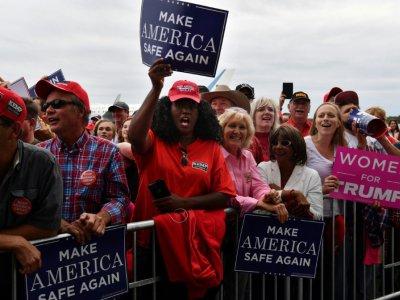 Des partisans du président américain Donald Trump lors d'un rassemblement à Macon, le 4 novembre 2018 en Géorgie    Nicholas Kamm [AFP]