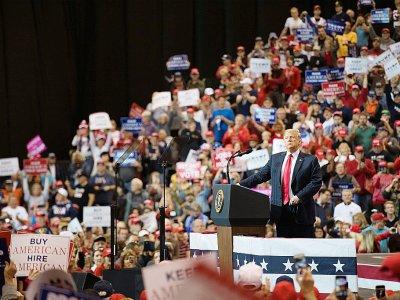 Donald Trump lors d'un meeting de campagne à Cleveland (Ohio), le 5 novembre 2018    Jim WATSON [AFP]