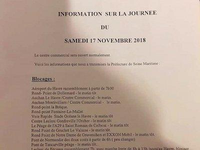 Document envoyé aux commerçant de la région havraise    Gilles Anthoine