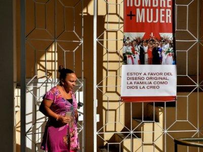 Affiche anti-mariage pour tous à La Havane, le 24 septembre 2018    YAMIL LAGE [AFP/Archives]