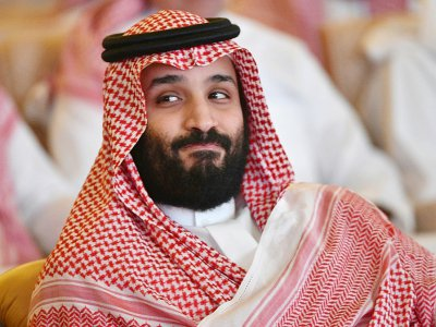 """Le prince héritier saoudien Mohammed ben Salmane, dit """"MBS"""", lors d'une conférence économique à Ryad, le 23 octobre 2018 - FAYEZ NURELDINE [AFP/Archives]"""