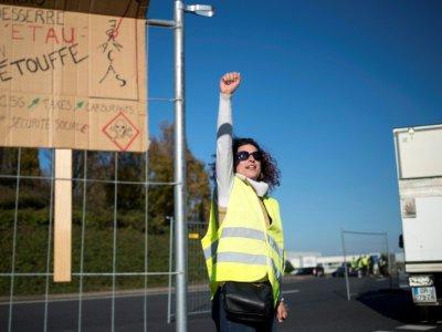 Des manifestants à Saint-Herblain près de Nantes le 18, novembre 2018 - SEBASTIEN SALOM GOMIS [AFP]