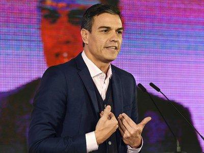 Le Premier ministre espagnol Pedro Sanchez lors d'un meeting en Andalousie, le 18 novembre 2018 - CRISTINA QUICLER [AFP/Archives]
