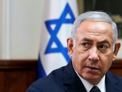 Le Premier ministre israélien Benjamin Netanyahu à Jérusalem lors du conseil des ministres le 5 septembre 2018    RONEN ZVULUN [POOL/AFP/Archives]
