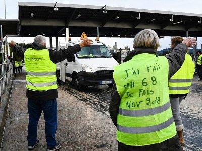"""""""Gilets jaunes"""", à La Ciotat le 30 novembre 2018    BORIS HORVAT [AFP/Archives]"""