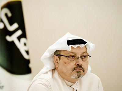 Le journaliste saoudien Jamal Khashoggi, le 15 décembre 2014 à Bahreïn - MOHAMMED AL-SHAIKH [AFP/Archives]