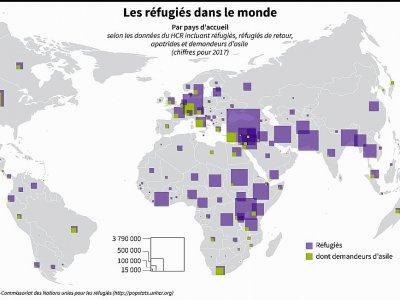 Les réfugiés dans le monde    Thomas SAINT-CRICQ [AFP]