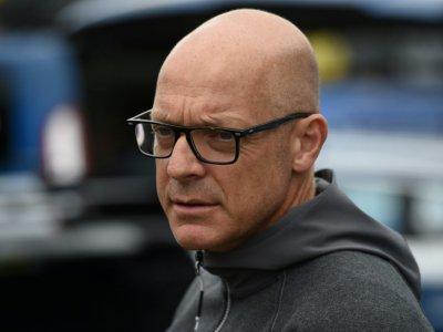 Le manager de l'équipe Sky, le Britannique Dave Brailsford, avant le départ de la 1re étape du Tour de Grande-Bretagne, le 2 septembre 2018 à Pembrey, au Pays de Galles - Oli SCARFF [AFP/Archives]