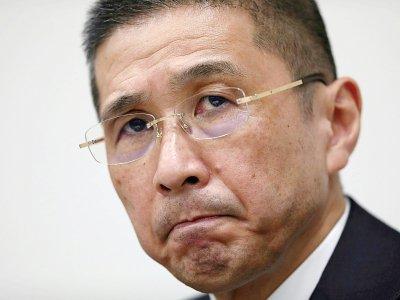 Le PDG de Nissan Hiroto Saikawa lors d'une conférence de presse à Tokyo, le 19 novembre 2018    Behrouz MEHRI [AFP/Archives]