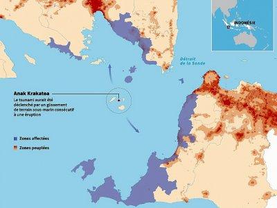 Le tsunami volcanique en Indonésie - [AFP]
