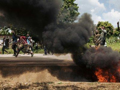 Manifestation contre le report des  élections présidentielle, législatives et provinciales à Beni, dans l'est de la RD Congo, le 27 décembre 2018    ALEXIS HUGUET [AFP]