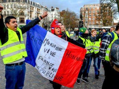 """Manifestation de """"gilets jaunes"""", à Lille, le 3 janvier 2019    Philippe HUGUEN [AFP/Archives]"""