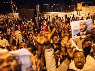 Des Congolais fêtent l'annonce de l'élection de Felix Tshisekedi à la présidence, le 10 janvier 2019 à Goma, en RDC    ALEXIS HUGUET [AFP]
