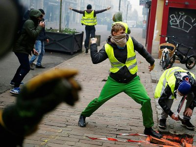 Manifestation de Gilets jaunes à Rouen, le 5 janvier dernier.    CHARLY TRIBALLEAU [AFP]
