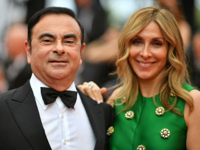 Carlos Ghosn et sa femme Carole le 26 mai 2017 à Cannes, lors du festival du film    LOIC VENANCE [AFP/Archives]