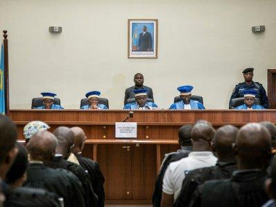 Les juges de la Cour constitutionnelle de la République démocratique du Congo (RDC), le 19 janvier 2019 à Kinshasa - Caroline THIRION [AFP]