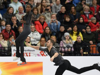 Le couple Vanessa James-Morgan Ciprès sacré à l'Euro de patinage à Minsk, le 24 janvier 2019