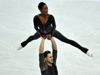 Vanessa James et Morgan Ciprès décrochent le titre européen à Minsk en couples à Minsk, le 24 janvier 2019    Sergei GAPON [AFP]