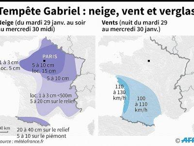 Tempête Gabriel : neige, vent et verglas - [AFP]