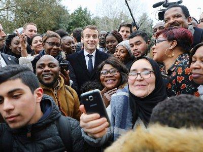 Emmanuel Macron à Evry-Courcouronnes, le 4 février 2019 - ludovic MARIN [POOL/AFP]