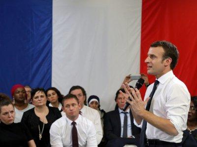 Emmanuel Macron à Evry-Courcouronnes (Essonne), le 4 février  2019 - Ludovic MARIN [POOL/AFP]