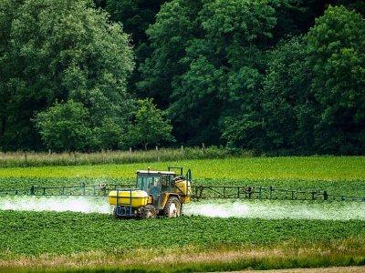 Éépandage de pesticides dans le nord de la France le 15 juin 2015 - Philippe HUGUEN [AFP/Archives]