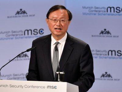 Yang Jiechi, membre du bureau politique du Parti communiste chinois, le 16 février 2019 à la Conférence sur la sécurité à Munich    THOMAS KIENZLE [AFP]