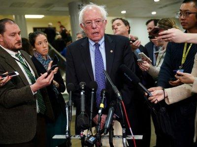Le sénateur du Vermont Bernie Sanders, photographié lors d'un point presse au Congrès américain le 28 novembre 2018, a décidé de briguer à nouveau l'investiture démocrate pour la présidentielle 2020    Mandel NGAN [AFP/Archives]