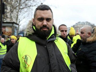 """Eric Drouet, figure des """"gilets jaunes"""", le 2 février 2019, à Paris    Zakaria ABDELKAFI [AFP/Archives]"""