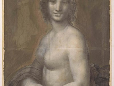 """Une photo du tableau de """"La Joconde nue"""" fournie par le RMN-Grand Palais Domaine de Chantilly le 4 mars  2019    Michel Urtado [RMN-Grand Palais Domaine de Chantilly/AFP]"""
