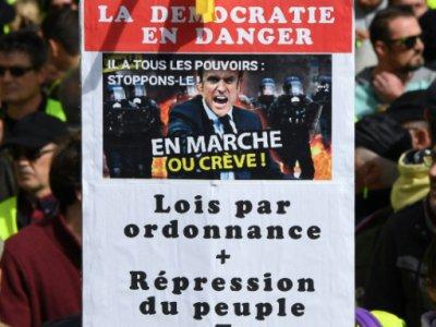 """Manifestation de """"gilets jaunes"""" à Bordeaux, le 16 mars 2019    MEHDI FEDOUACH [AFP]"""