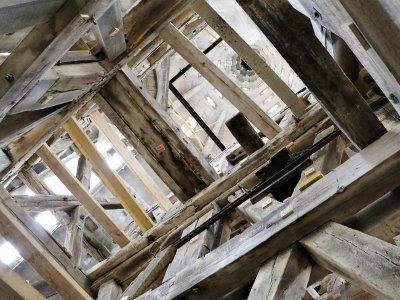 La charpente du beffroi est composée de 35m2 de bois!    Charles de Quillacq