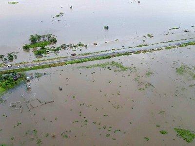 Photo du Programme alimentaire mondial montrant la zone inondée de Bozi, dans le sud de Beira, au Mozambique, le 19 mars 2019 - Pedro MATOS [WFP/AFP]