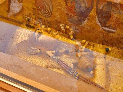 Le sarcophage de Toutankhamon, le 31 janvier 2019 à Louxor - MOHAMED EL-SHAHED [AFP/Archives]