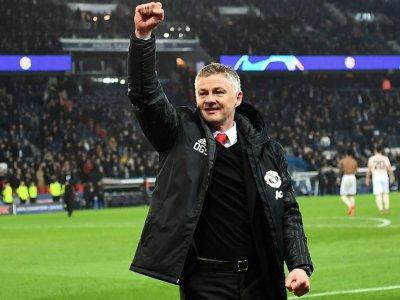 Gunnar Solskjaer, alors entraîneur par interim de Manchester United, à la fin du match contre le PSG en C1, au Parc des Princes, le 6 mars 2019    Anne-Christine POUJOULAT [AFP/Archives]