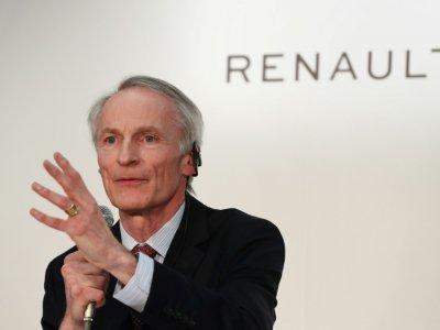 Le président de Renault Jean-Dominique Senard au siège de Nissan, le 12 mars 2019 à Yokohama, au Japon    Behrouz MEHRI [AFP/Archives]