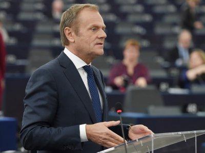 Le président du Conseil européen Donald Tusk à Strasbourg, le 27 mars 2019 - FREDERICK FLORIN [AFP/Archives]