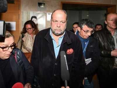 Eric Dupond-Moretti quitte le tribunal d'Aix-en-Provence, le 5 avril 2019    Boris HORVAT [AFP]