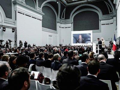 La restitution officielle du grand débat, le 8 avril 2019 au Grand palais - Philippe LOPEZ [AFP]