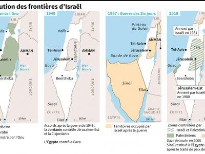 L'évolution des frontières d'Israël    Jochen GEBAUER [AFP]