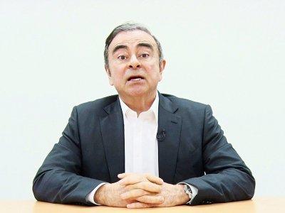Capture d'écran diffusée le 9 avril 2019 de Carlos Ghosn s'exprimant dans une vidéo enregistrée depuis Tokyo pour clamer son innocence    Handout [Representatives for Carlos Ghosn/AFP/Archives]