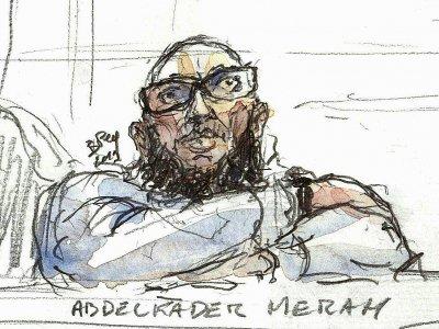 Abdelkader Merah, au premier jour de son procès en appel devant la cour d'assises spéciale de Paris, le 25 mars 2019 - Benoit PEYRUCQ [AFP]